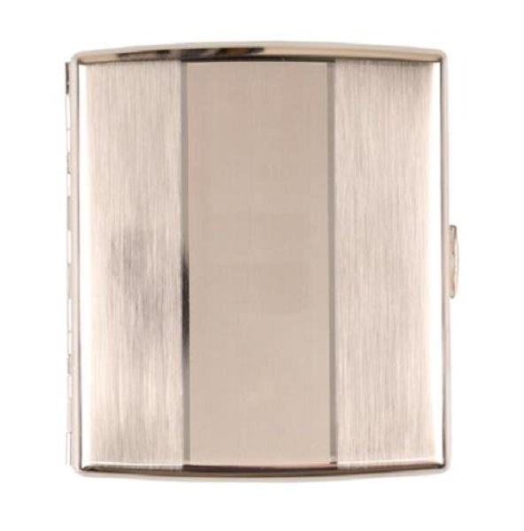 jean claude zigarettenetui metall nickel l ngs quer geb rstet 20er mit b gel ebay. Black Bedroom Furniture Sets. Home Design Ideas